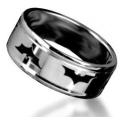 Кольцо Batman Logo Metal 10 мм #4