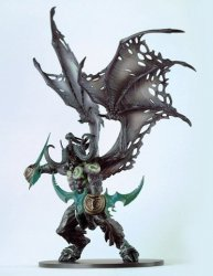 SERIES 5: ILLIDAN STORMRAGE Demon form Deluxe Collector Figure