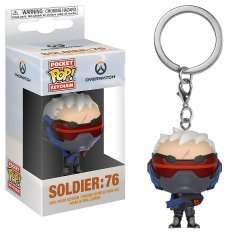 Брелок - Funko Pocket Pop! Overwatch Keychain - Soldier 76