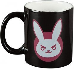 Чашка JINX Overwatch - D.VA Ceramic Black/Pink