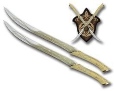 Реплика оружия The Hobbit Legolas Fantasy Fighting Swords with  Display