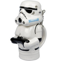 Кружка Star Wars Stormtrooper Stein - Collectible 22oz Ceramic Mug with Metal Hinge
