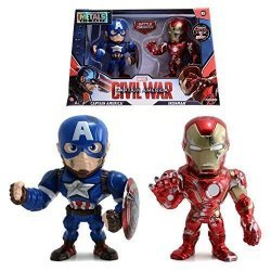 Фигурки Jada Toys Metals Die-Cast: Civil War Captain America  and Ironman BATTLE DAMAGE