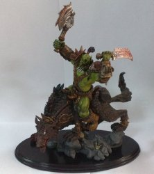 Orc Wolf Rider (Riding Wolf) World of Warcraft Figure