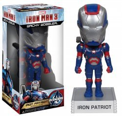 Фигурка Avengers - Iron Man 3 Movie Iron Patriot 7-Inch Bobble Head