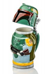 Кружка Star Wars Boba Fett Stein - Collectible 22oz Ceramic Mug with Metal Hinge
