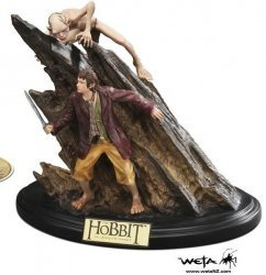 Статуэтка The Hobbit Riddles in the Dark Bilbo Gollum Statue Limited Edition
