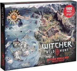Пазл Ведьмак Dark Horse Deluxe The Witcher 3: Wild Hunt - World Map Deluxe Puzzle