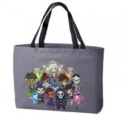 Сумка tokidoki x Overwatch Grey Canvas Totebag