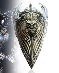 World of Warcraft Alliance Logo Golden Shield Metal