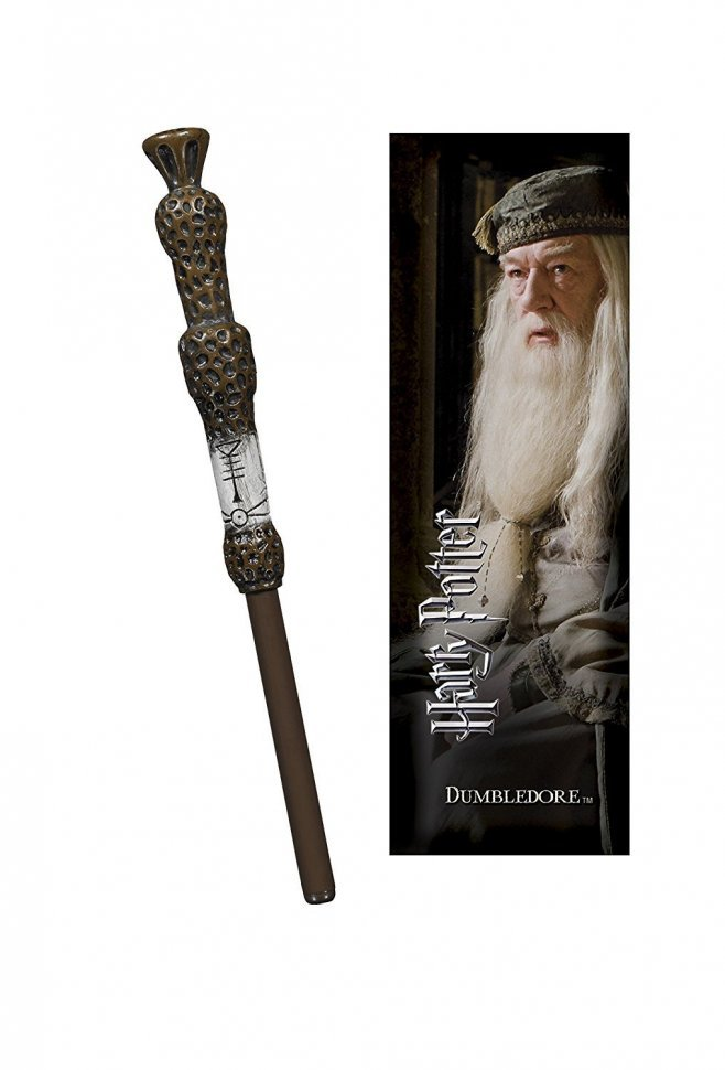 Ручка палочка Harry Potter - Dumbledore Wand Pen and Bookmark + Закладка