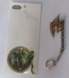 Брелок - World of Warcraft Flame Axe Metal Weapon