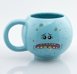 Чашка Рик и Морти - мистер Мисикс Mr. Meeseeks 3D Sculpted Mug 15 Oz