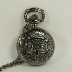 Часы Dark Black Pocket Watch Charm Harry Potter Owl