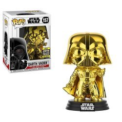 Фигурка Funko Pop! Star Wars - Darth Vader (Gold Chrome) Galactic Convention Amazon Exclusive